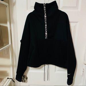 NIKE PRO Logo Back Track Sweater